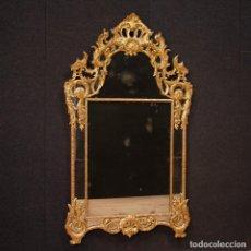 Antigüedades: ESPEJO DORADO ITALIANO EN ESTILO LUIS XV. Lote 154641406
