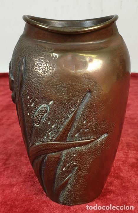 Antigüedades: FLORERO. METAL PLATEADO. J.N. DAALDEROP AND ZN. ESTILO ART NOUVEAU. CIRCA 1930. - Foto 3 - 154646290