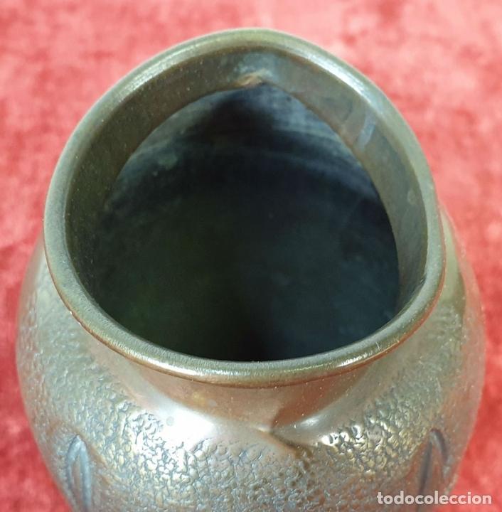Antigüedades: FLORERO. METAL PLATEADO. J.N. DAALDEROP AND ZN. ESTILO ART NOUVEAU. CIRCA 1930. - Foto 4 - 154646290