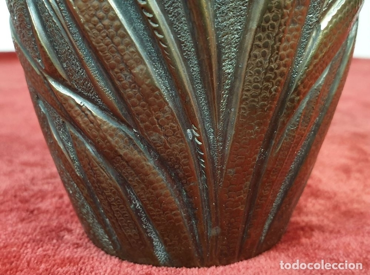 Antigüedades: FLORERO. METAL PLATEADO. J.N. DAALDEROP AND ZN. ESTILO ART NOUVEAU. CIRCA 1930. - Foto 5 - 154646290