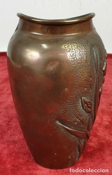 Antigüedades: FLORERO. METAL PLATEADO. J.N. DAALDEROP AND ZN. ESTILO ART NOUVEAU. CIRCA 1930. - Foto 8 - 154646290