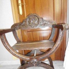 Antigüedades: SILLA CURUL O SILLA DE CARRO. Lote 154668202