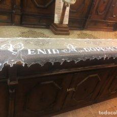 Antigüedades: FRONTAL BORDADO EN ENCAJE. Lote 154705004