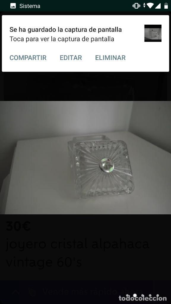 Antigüedades: Joyero vintage 60's cristal alpaca - Foto 2 - 154715250