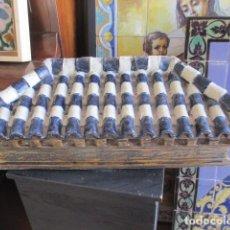 Antigüedades: TEJADO PARA RETABLO CERAMICO AZULEJOS. Lote 154718542