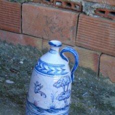 Antigüedades: CERAMICA TRIANA BONITA BOTELLA DE CERAMICA FIRMADO A VALVERDE TRIANA. Lote 154738442