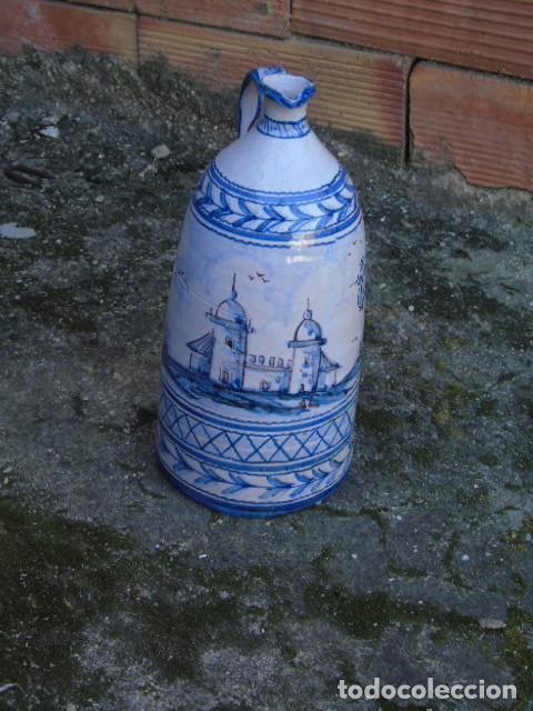 Antigüedades: ceramica triana bonita botella de ceramica firmado a valverde triana - Foto 3 - 154738442