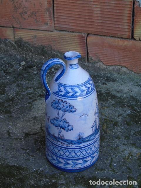 Antigüedades: ceramica triana bonita botella de ceramica firmado a valverde triana - Foto 4 - 154738442