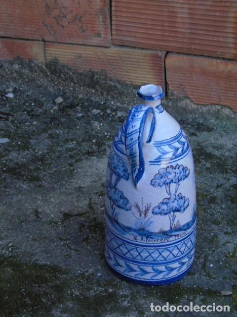 Antigüedades: ceramica triana bonita botella de ceramica firmado a valverde triana - Foto 5 - 154738442