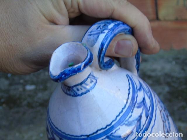 Antigüedades: ceramica triana bonita botella de ceramica firmado a valverde triana - Foto 7 - 154738442