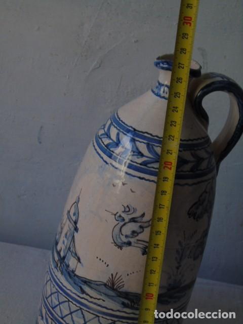 Antigüedades: ceramica triana bonita botella de ceramica firmado a valverde triana - Foto 8 - 154738442