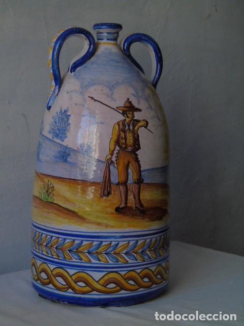 PRECIOSA CERAMICA TRIANA SEVILLA FIRMADO A VALVERDE TRIANA (Antigüedades - Porcelanas y Cerámicas - Triana)