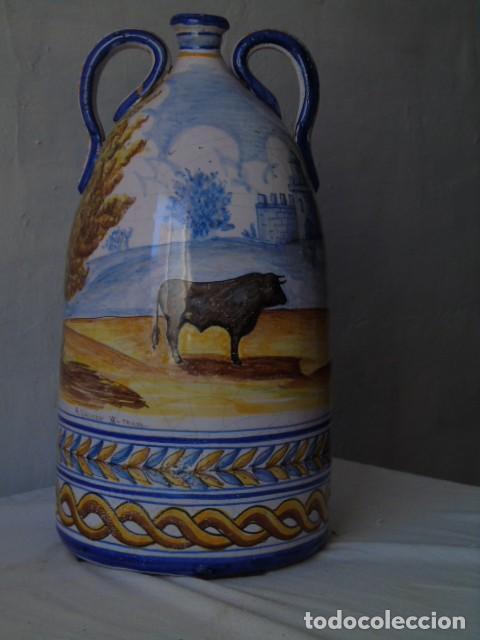 Antigüedades: preciosa ceramica triana sevilla firmado a valverde triana - Foto 2 - 154738766