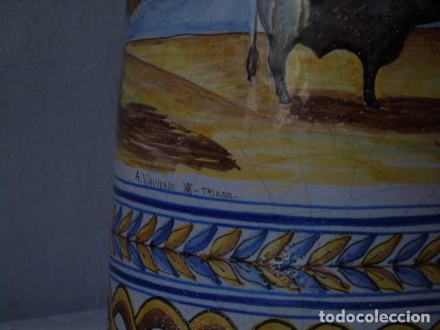 Antigüedades: preciosa ceramica triana sevilla firmado a valverde triana - Foto 3 - 154738766