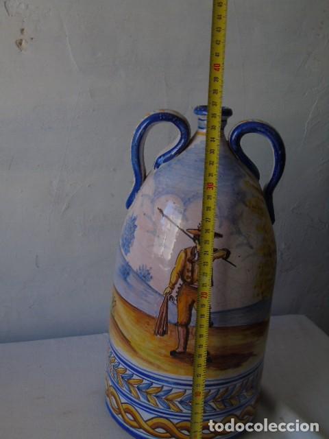 Antigüedades: preciosa ceramica triana sevilla firmado a valverde triana - Foto 8 - 154738766