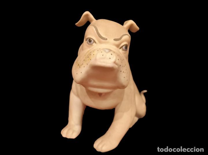 Antigüedades: precioso perro bulldog, sello , alcora, ? precioso, impecable. - Foto 2 - 154740106