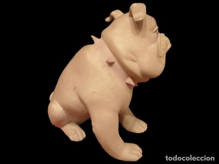 Antigüedades: precioso perro bulldog, sello , alcora, ? precioso, impecable. - Foto 3 - 154740106