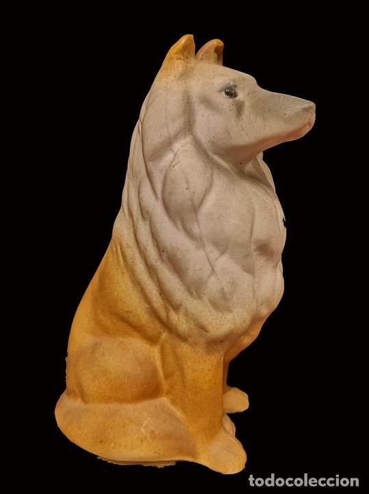 MARAVILLOSO PERRO COLLIE DE ALCORA, CON MARCA EN BASE , IMPECABLE. (Antigüedades - Porcelanas y Cerámicas - Alcora)