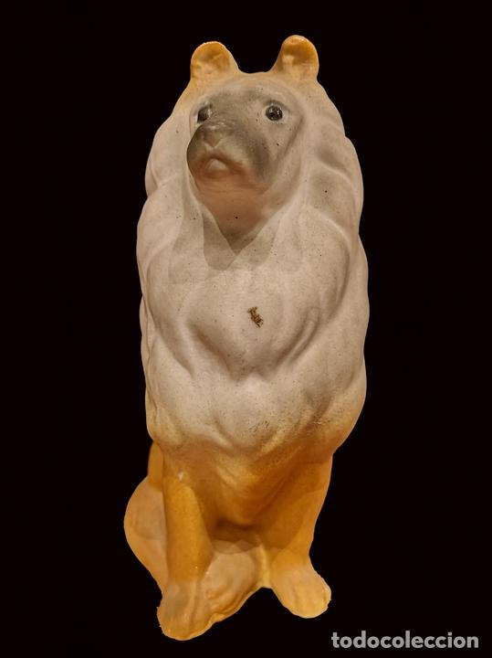 Antigüedades: Maravilloso perro collie de alcora, con marca en base , impecable. - Foto 2 - 154740118