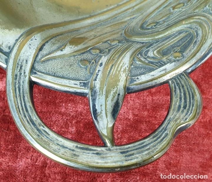 Antigüedades: CENTRO DE MESA. METAL CHAPADO EN PLATA. ESTILO MODERNISTA. CIRCA 1940 - Foto 3 - 154740954