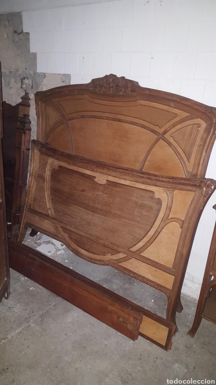 CABECERO Y PIECERO (Antigüedades - Muebles Antiguos - Camas Antiguas)
