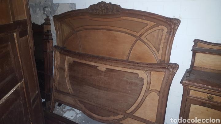 Antigüedades: CABECERO Y PIECERO - Foto 2 - 154744869