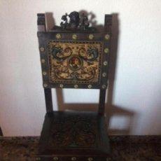 Antigüedades: SILLAS ESTILO CASTELLANO. Lote 154759694