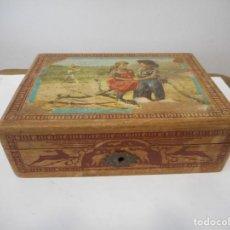 Antigüedades: CAJITA-JOYERO DE MADERA. Lote 154771570