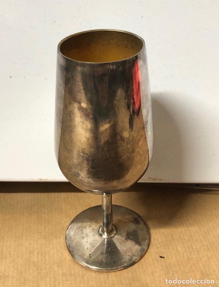 Antigüedades: LOTE DE 5 COPAS DE CATAVINO DE METAL PLATEADA - Foto 2 - 154781594