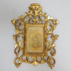 Antigüedades - madera tallada y dorada al oro fino, siglo XIX. - 154784294