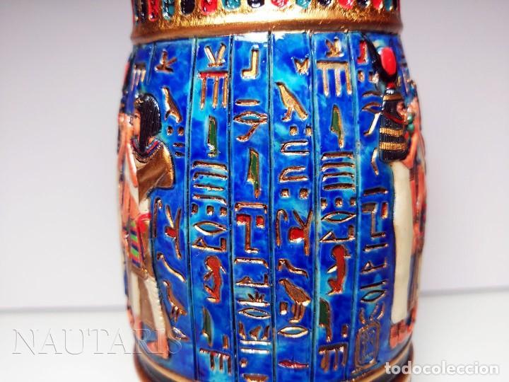 Antigüedades: Bello búcaro o jarrón egipcio de la casa Veronese (2004) pintado a mano - Incluye embalaje original - Foto 4 - 154785962