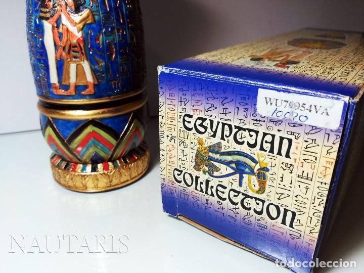 Antigüedades: Bello búcaro o jarrón egipcio de la casa Veronese (2004) pintado a mano - Incluye embalaje original - Foto 7 - 154785962