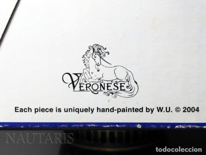 Antigüedades: Bello búcaro o jarrón egipcio de la casa Veronese (2004) pintado a mano - Incluye embalaje original - Foto 8 - 154785962