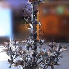 Antigüedades: MUY GRANDE ANTIGUA LAMPARA DE TECHO RESTAURADA. Lote 154789449