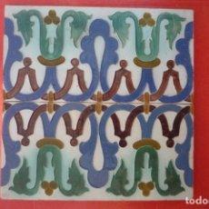 Antigüedades: TALAVERA DE LA REINA. CERAMICA 'RUIZ DE LUNA'. 2 MOSAICOS 13,7X27,4 CM. EN RELIEVE (CUERDA SECA). Lote 154800486
