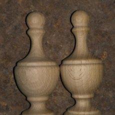Antigüedades: 2 PERILLA, TERMINAL ( LEER ) MADERA PARA TERMINAL DE CAPILLA DE VIRGEN MUEBLES SILLA RESTAURACIONES. Lote 154817118