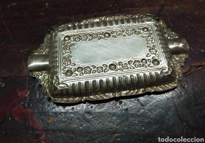 Antigüedades: Cenicero Bandeja plata de ley punzon estrella y otro - Foto 5 - 154825610