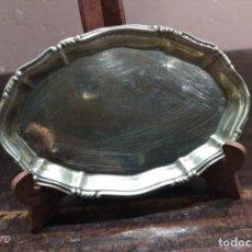 Antigüedades: BANDEJA PLATA DE LEY PUNZON ESTRELLA Y OTRO. Lote 154826650