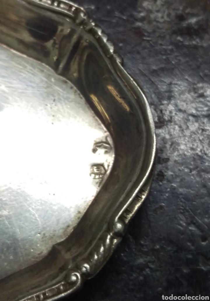 Antigüedades: Bandeja plata de ley punzon estrella y otro - Foto 4 - 154826650
