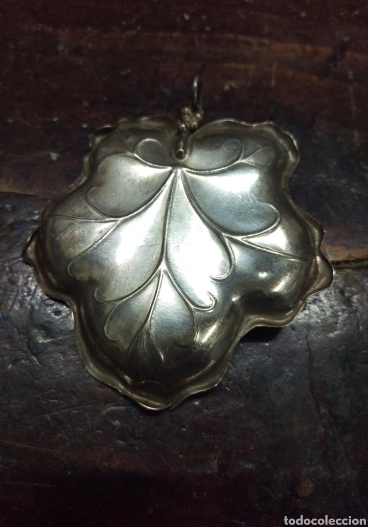 Antigüedades: Bandeja plata de ley punzon estrella y otro - Foto 4 - 154829226