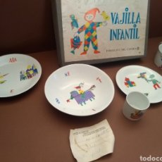 Antigüedades: VAJILLA INFANTIL CASTRO 1978 (5 PIEZAS). Lote 154831637