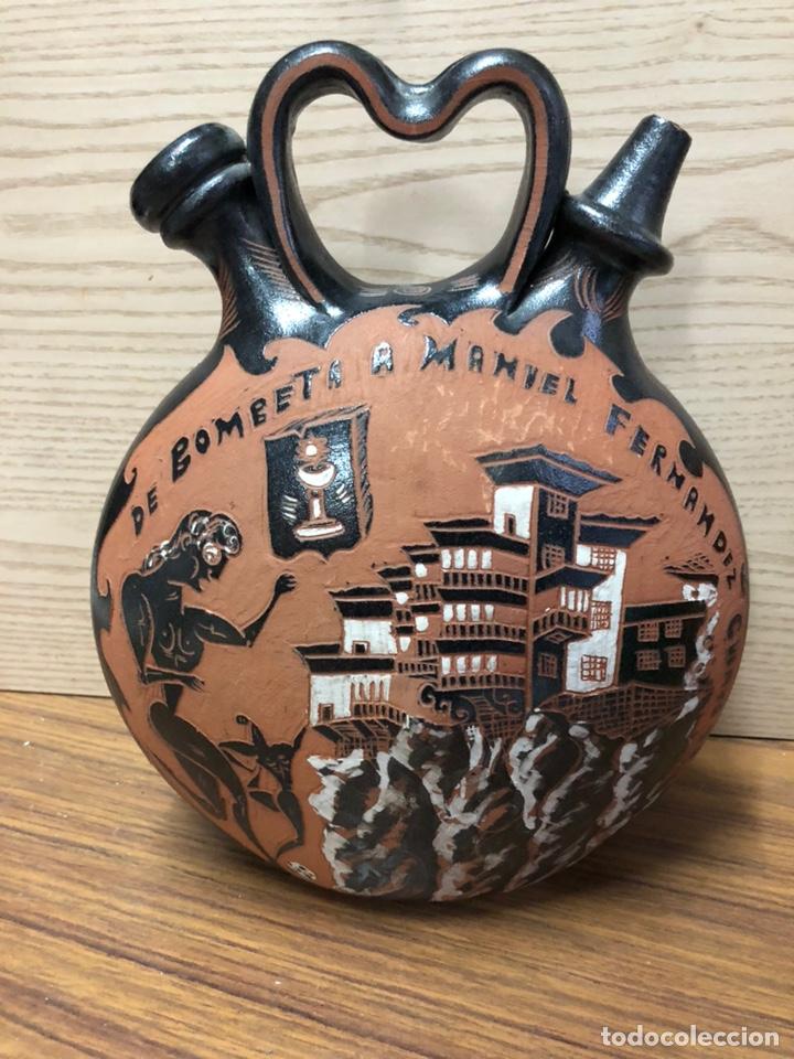 MIGUEL HERNANSANZ -GRAN ARTESANO DISCÍPULO PEDRO MERCEDES-FIRMADO-BOTIJO ORIGINAL. (Antigüedades - Porcelanas y Cerámicas - Otras)