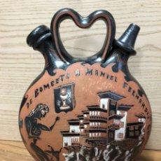 Antigüedades: MIGUEL HERNANSANZ -GRAN ARTESANO DISCÍPULO PEDRO MERCEDES-FIRMADO-BOTIJO ORIGINAL.. Lote 154835640