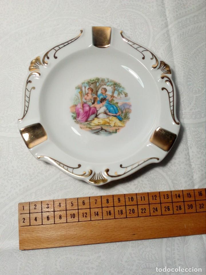 Antigüedades: CENICERO PORCELANA - DIBUJO CLÁSICO - FABRICADO SANTA CLARA / MAH / VIGO / ESPAÑA - AÑOS 70 - Foto 5 - 154839142