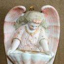 Antigüedades: BENDITERA DE BISCUIT-TONO ROSADO-PP SGXX.. Lote 154867910