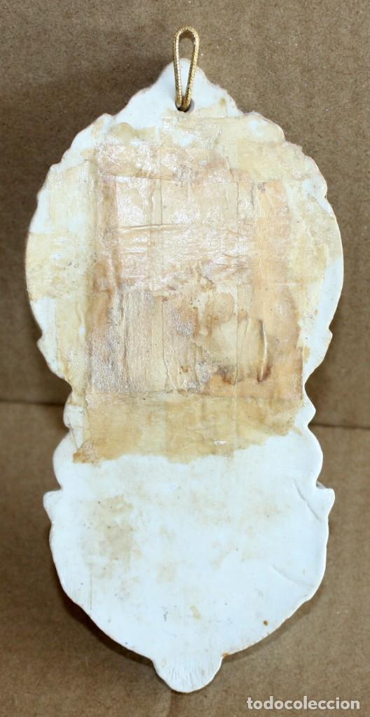 Antigüedades: BENDITERA DE PORCELANA ESMALTADA. - Foto 3 - 154868874