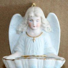 Antigüedades: BENDITERA DE BISCUIT-ANGELITO.. Lote 154871006