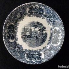 Antigüedades: ANTIGUO PLATO HONDO DECORACIÓN CARTUJANA, DE LOZA PICKMAN, S.A. SEVILLA CARTUJA. 22,8 CM. . Lote 154925694