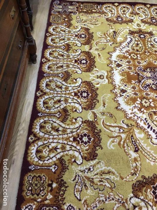 Antigüedades: ANTIGUA ALFOMBRA DE LANA CON MEDIDAS 250X200 CM - Foto 2 - 154930154