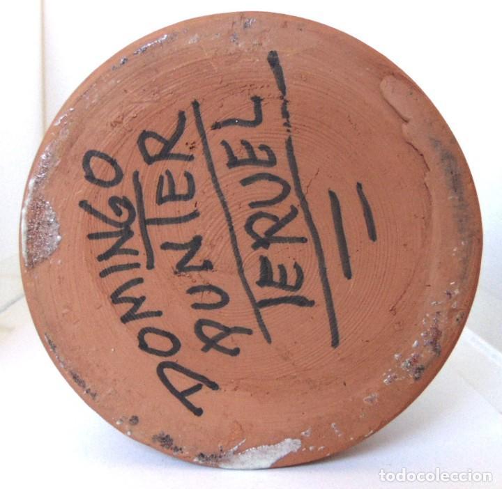 Antigüedades: JARRA ACEITERA -CERAMICA DE TERUEL-DOMINGO PUNTER-AÑOS OCHENTA - Foto 7 - 154941690